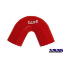 Szilikon könyök TurboWorks Piros 135 fok 63mm